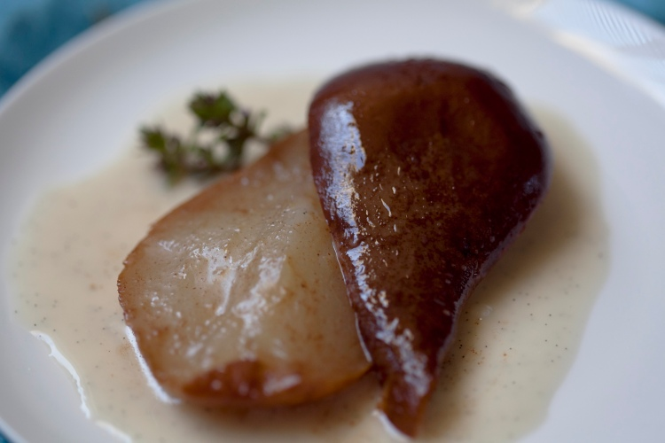 poached pears feature